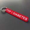 Schlüsselanhänger Typ 1 Diabetes